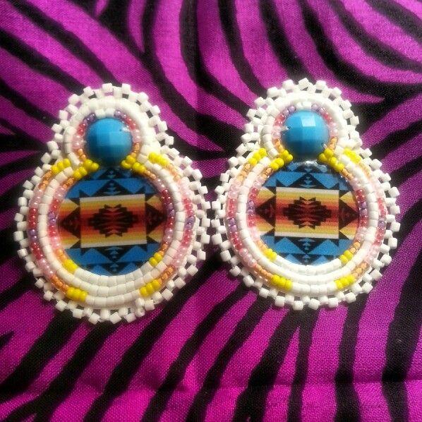 Native american beaded earrings made by kimberley McKay