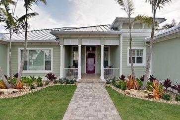 Light Green Florida Homes Exterior