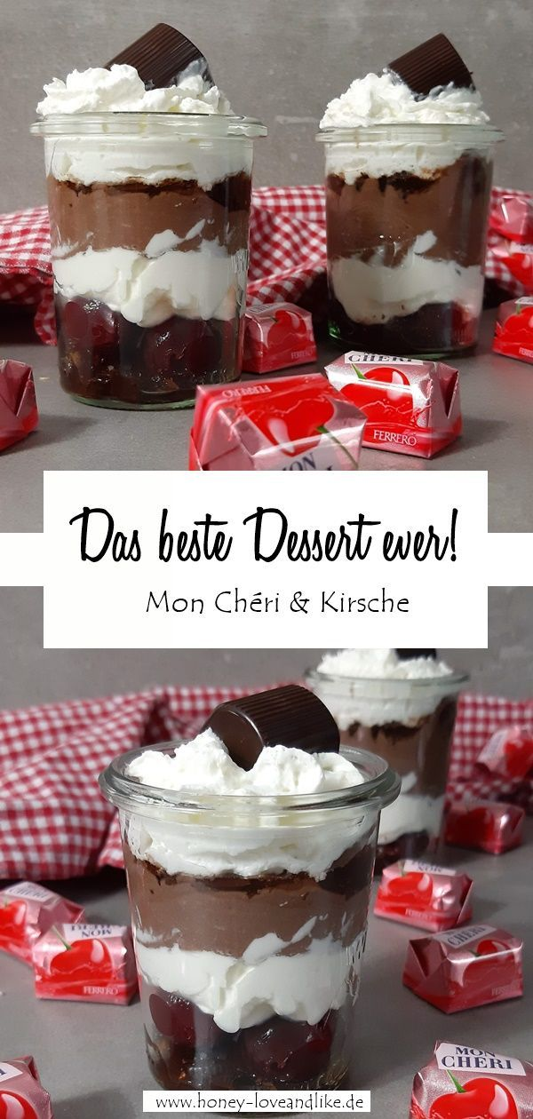 Das beste Mon Cheri Dessert zu Weihnachten für Erwachsene #dessertweihnachten