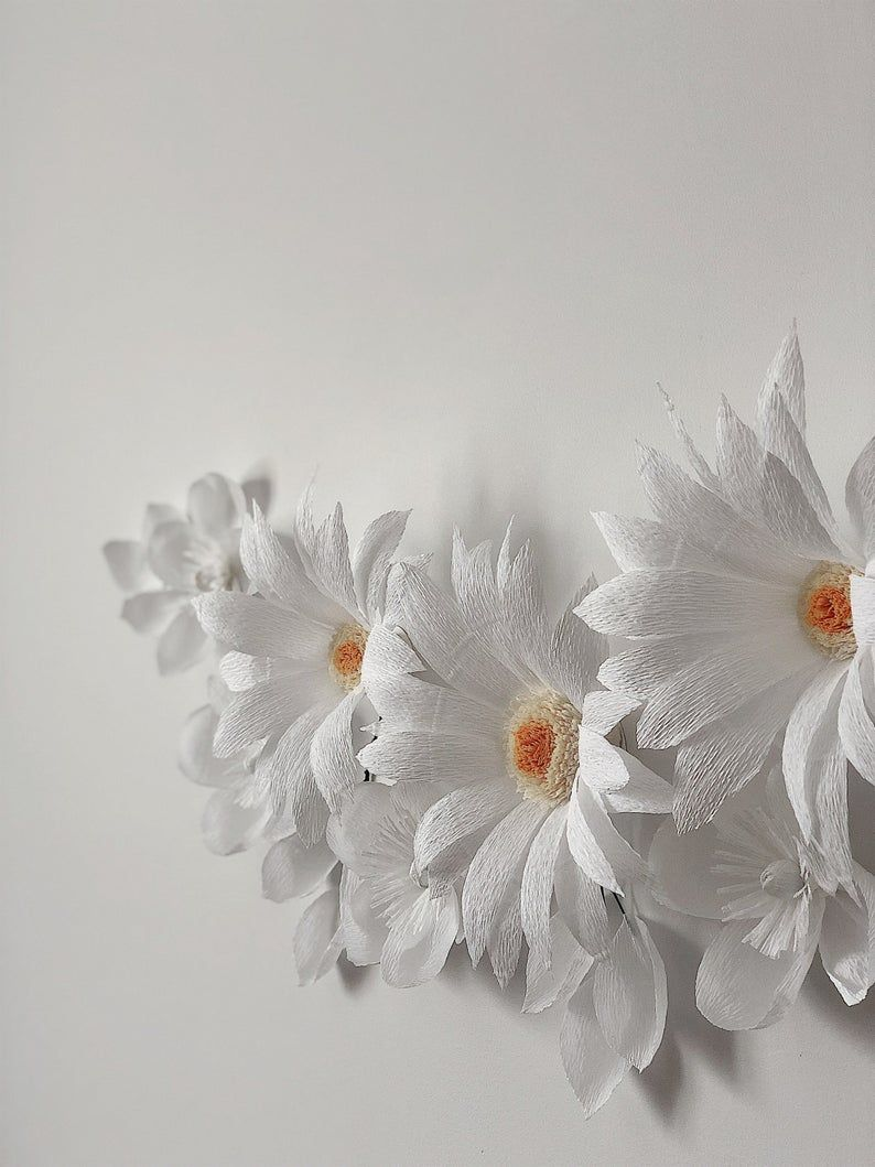 Set of 9 Paper Flowers - Paper Flowers Wall Decor - Nursery Wall Decor