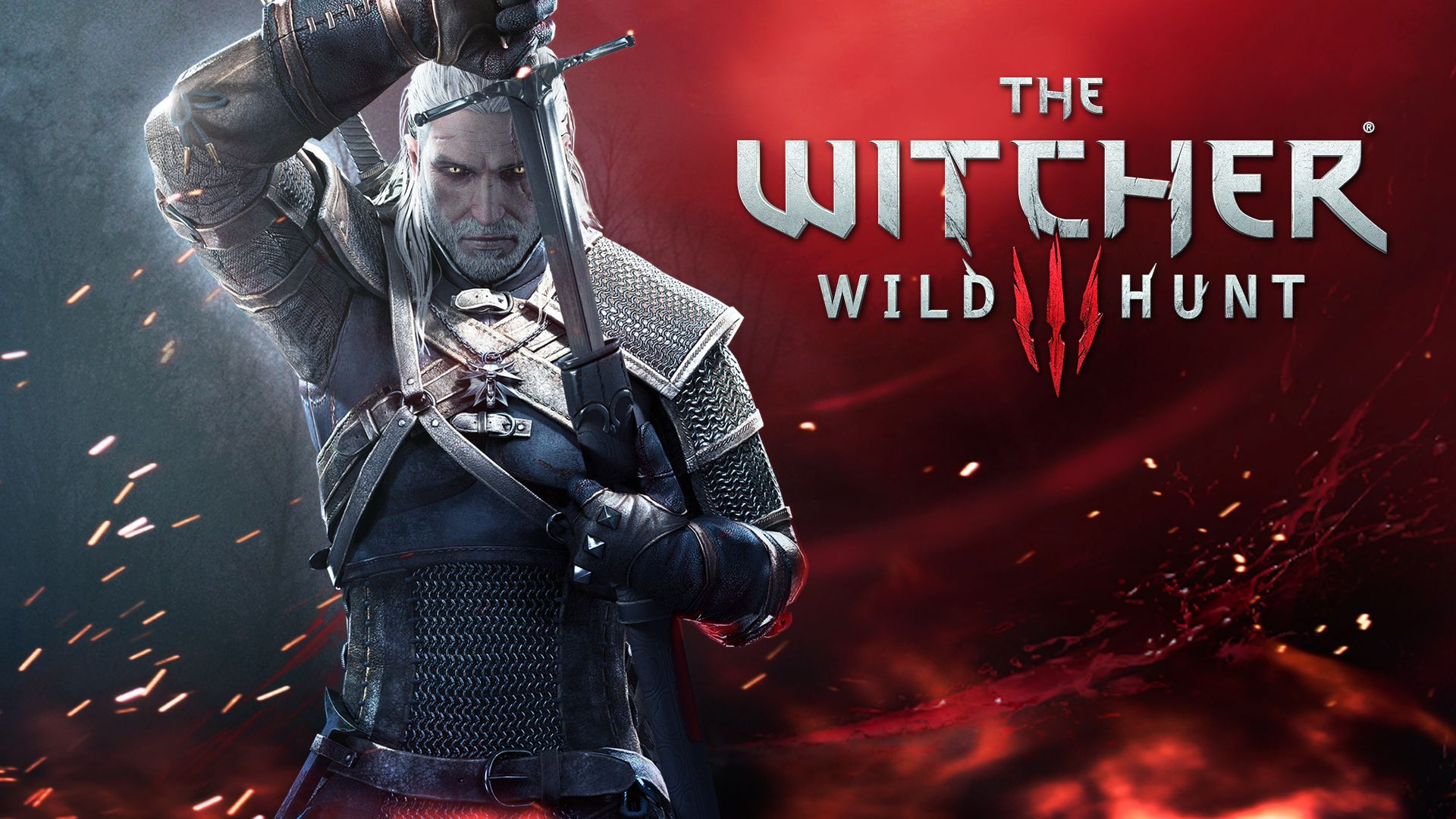 Wallpaper the witcher 3 armor geralt long hair spark