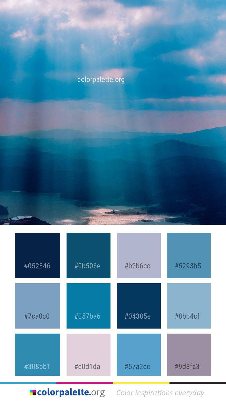 Sky Blue Calm Color Palette Colors Inspiration Graphics Design