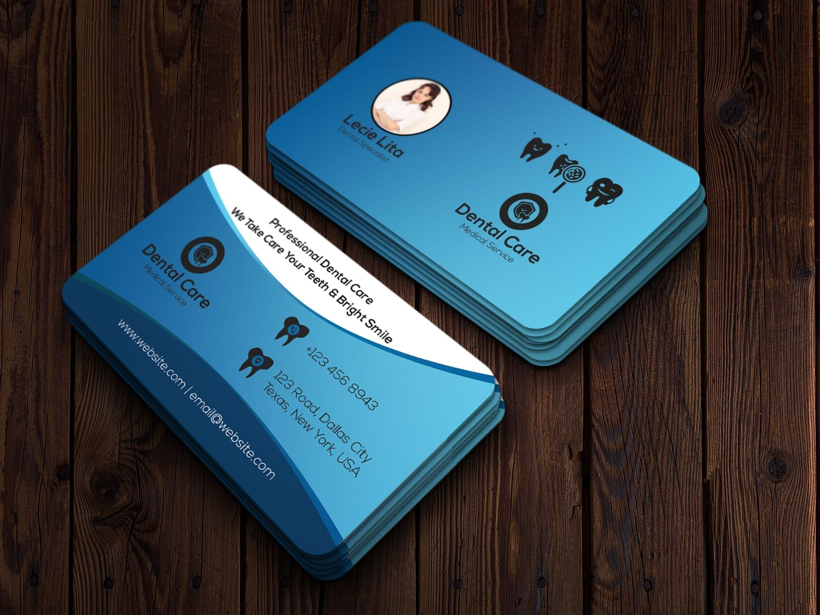 Dentist Business Card Business Cards Creative Visiting Card Design Visiting Cards