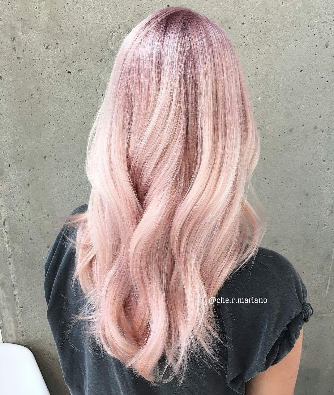 Pin By Mov On Wlosy Light Pink Hair Pink Blonde Hair Hair Color Pastel