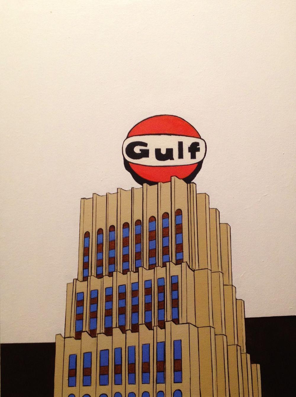 The Gulf Building - Acrylic on Canvas