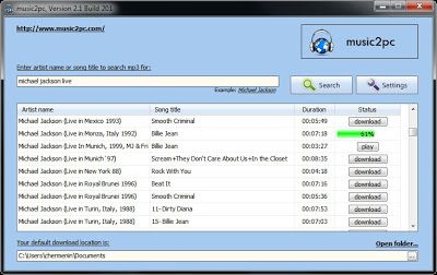 Easy To Use/Portable/Fast Install/Free MP3 Dowloader for