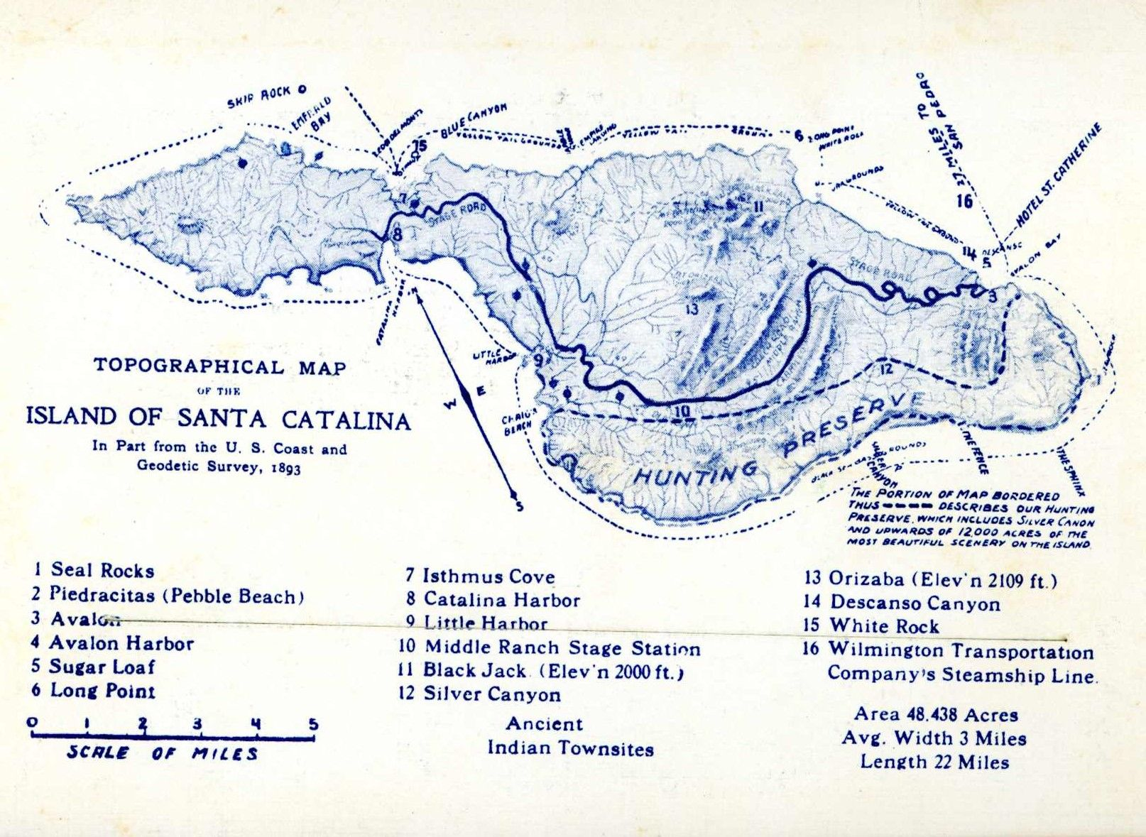 Old Map of Catalina postcard. Hagins collection. | MOMS OLD ... Catalina Map on