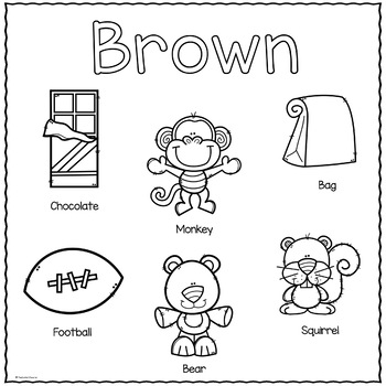 The Color Brown Printable Activities Color Of The Week Preschool Colors Teaching Colors Learning Colors