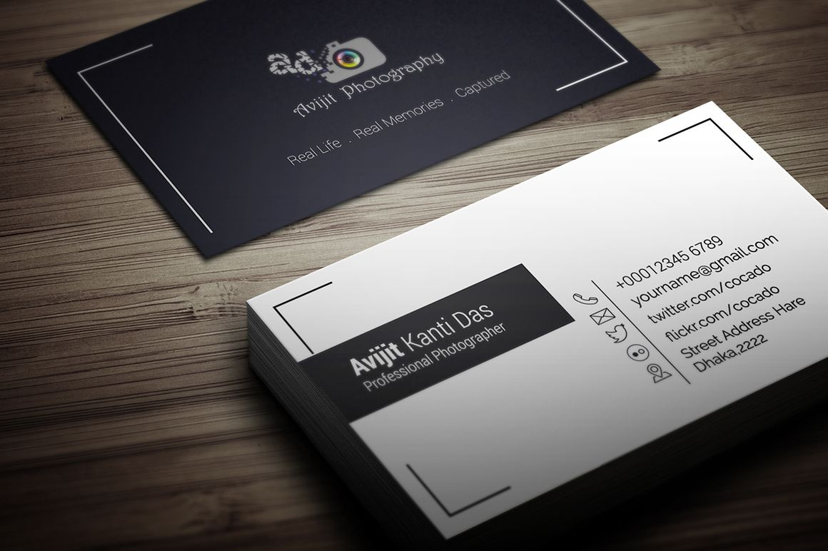 Fotograf Visitenkarte Design Zusammen Mit Dem Fotografen Visitenkarten Ideen Sowie Graphicriver Elegant Fotografie Business Card Bundle