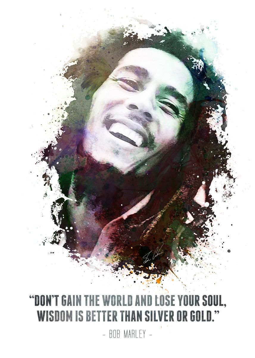 "Displate Poster Legendary Robert Nesta ""Bob"" Marley and his quote. bob #marley #legend #jamaica… 