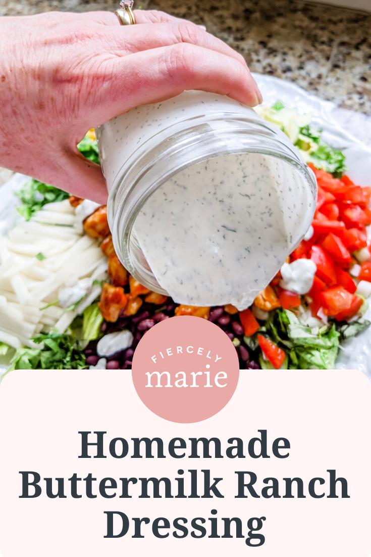 Homemade Buttermilk Ranch Salad Dressing Recipe In 2020 Homemade Buttermilk Buttermilk Ranch Salad Dressing Homemade Ranch Dressing Buttermilk