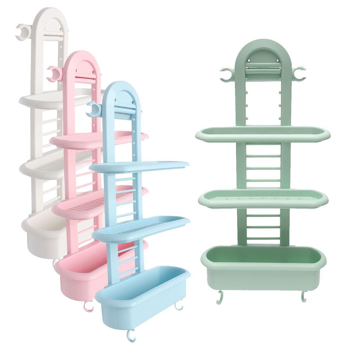 Honana BS-415 Bathroom Shower Caddy Plastic Organizer Shelves ...