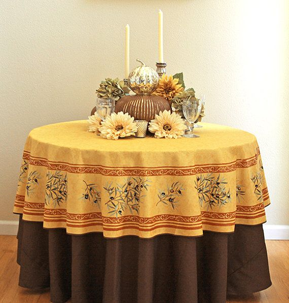 70 Round Tablecloth French Oil Cloth Provence By SoleildeProvence