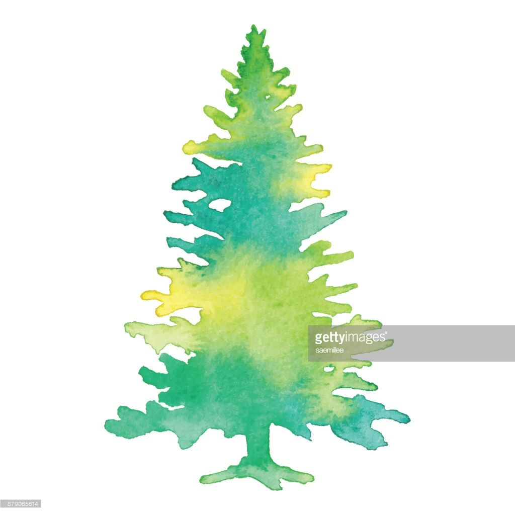 Image result for water color pine tree | crafts to try | Pinterest ...