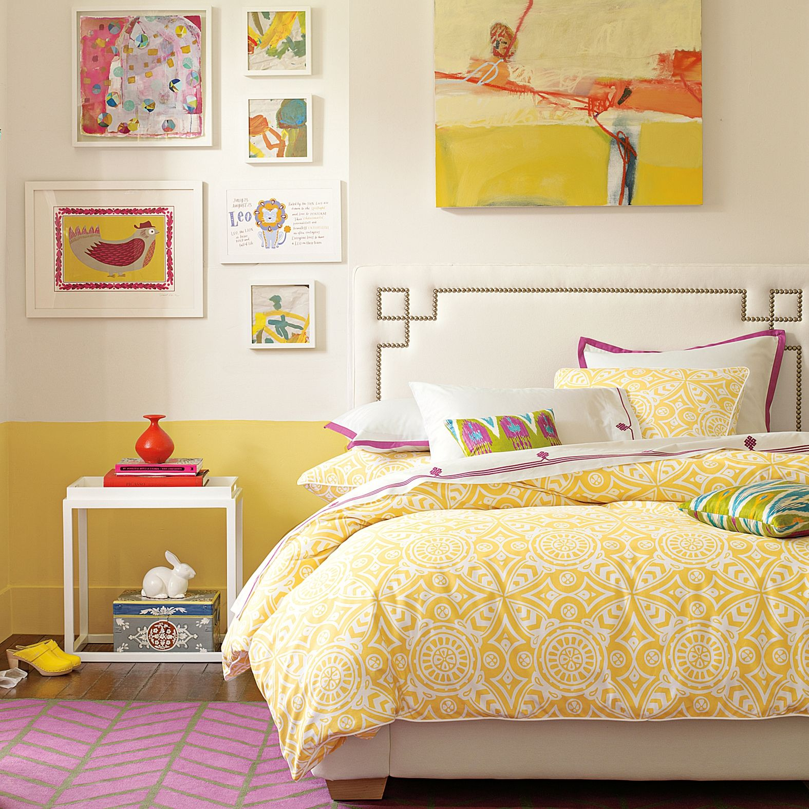yellow + magenta | Color | Pinterest | Bedrooms, Bright and Sunnies