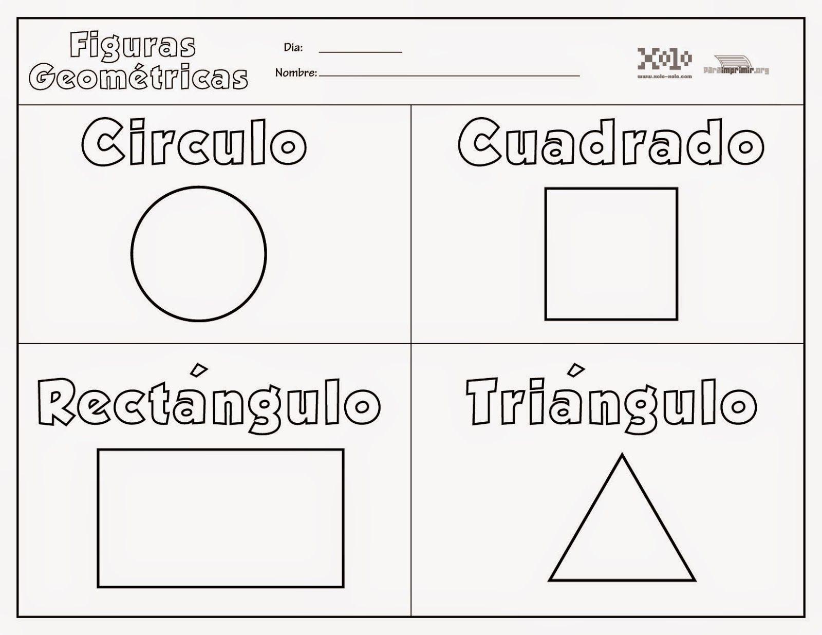 Figuras Geometricas Para Colorear Preescolar 35425