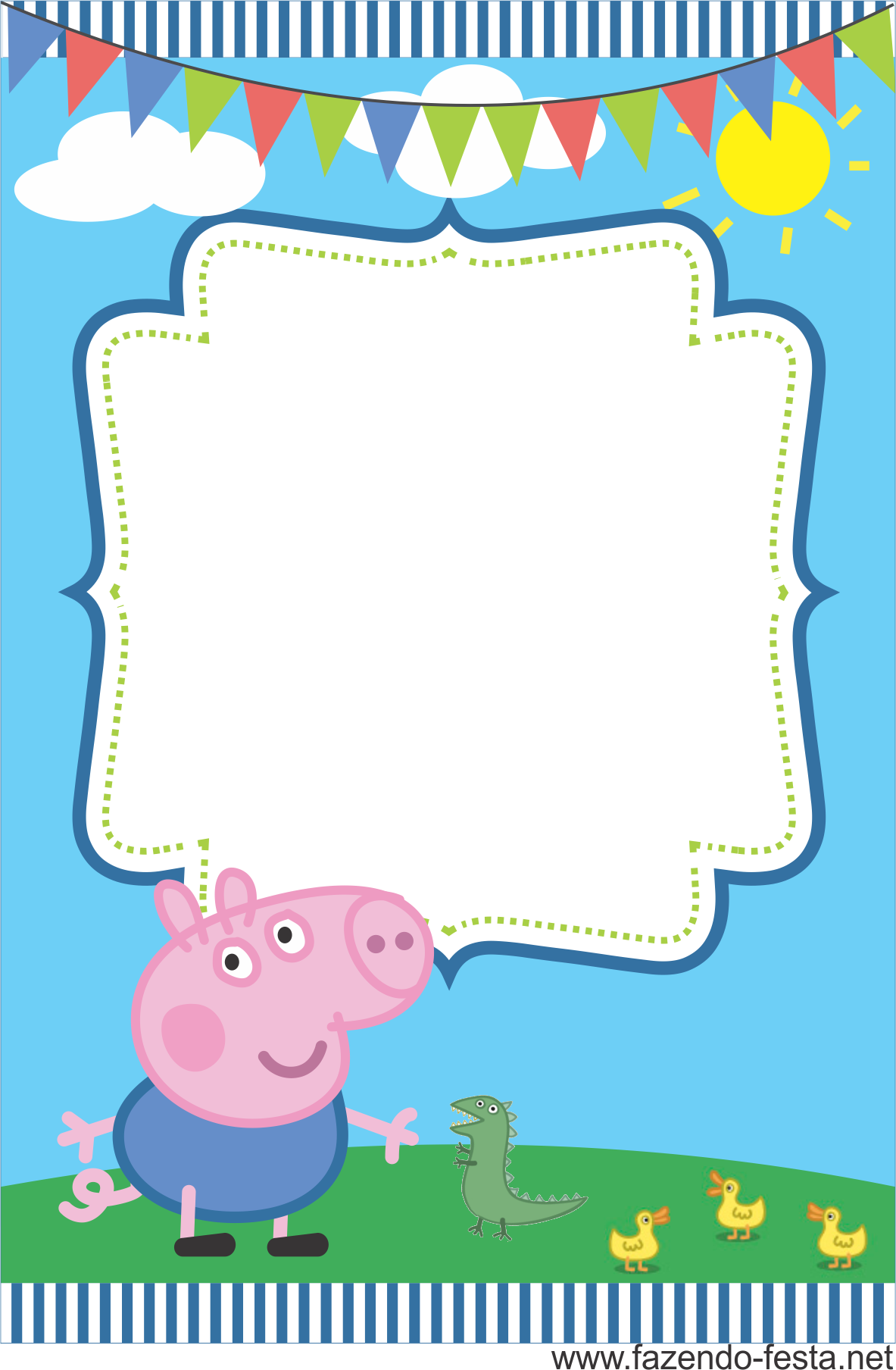 Imagens De Convite Aniversario Da Peppa Arte Pig Para Imprimir Grife  Convites Elo7