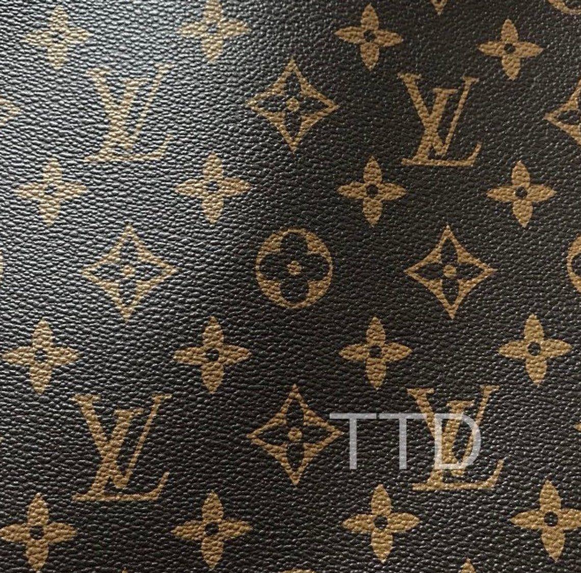 1bc6709d6a81 Louis Vuitton LV Leather Vinyl Louis Vuitton LV Fabric Material By ...