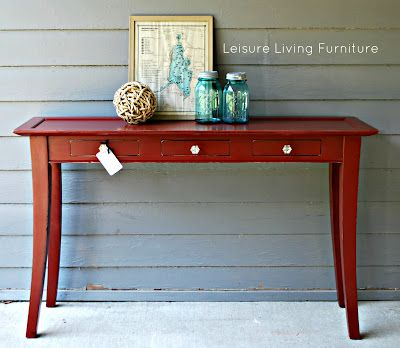 ASCP in Primer Red.  Love the glass knobs with it.  By Leisure Living.
