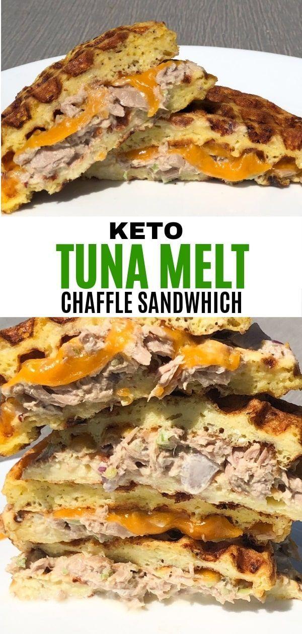 Keto Tuna Melt Chaffle - Curbing Carbs
