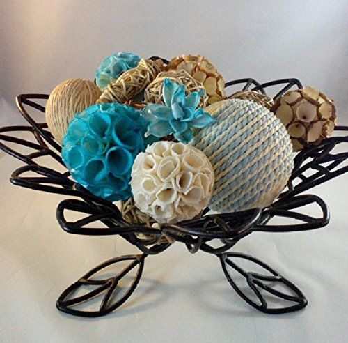 Decorative Balls For Bowls Australia Decorative Spheres Aqua Rattan Vase Filler Blue Bowl Filler Rope