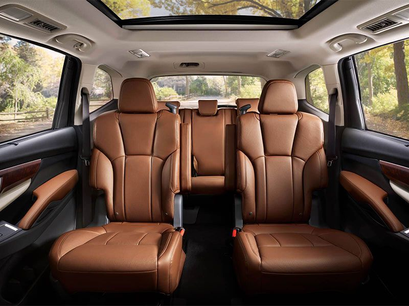 10 Suvs With Second Row Captain S Chairs Autobytel Com 3rd Row Suv Subaru Suv Subaru