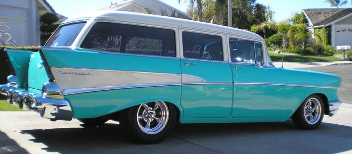 57 Chevy 4 Door Wagon Chevy Trucks Chevy Classic Cars
