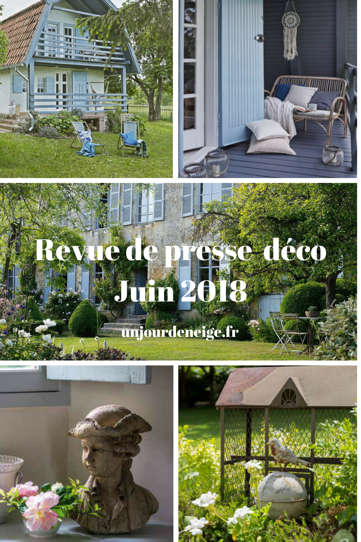 Maison A Vivre Campagne un jour de neige - revue de presse déco - juin 2018 | maison