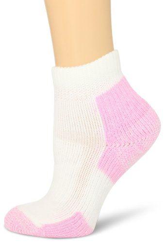 Thorlo Women's Distance Walker Mini-Crew Sock, White/Pink, Small  Thorlo,http://www.amazon.com/dp/B00D85Z78Y/ref=… | Walking socks, Athletic  socks women, Socks women