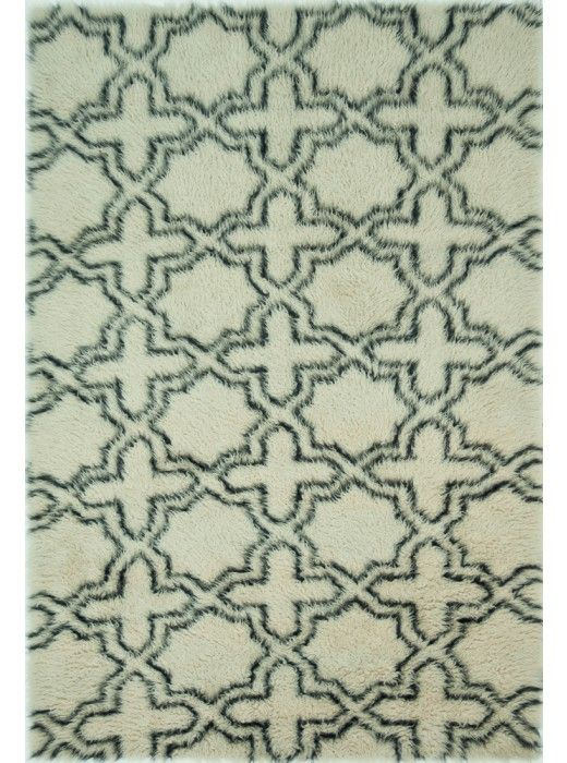 This Tariq Ivory Charcoal Collection rug (TQ-01) is manufactured by Loloi.