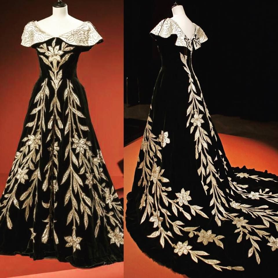 Evening dress by the house of worth ca s worn by countess