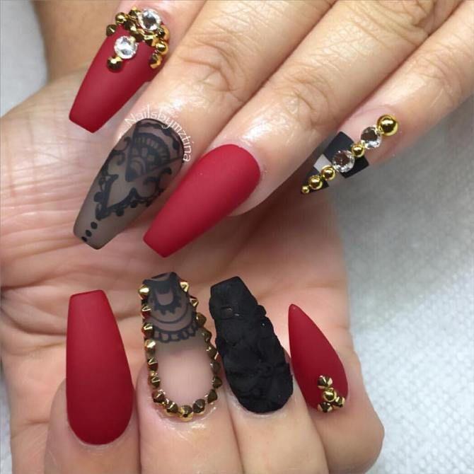 38 Pretty Coffin Ballerina Nails You Will Love | Uñas ballerina y ...