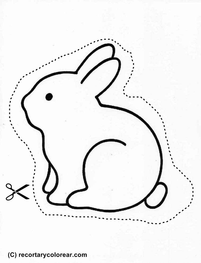 Conejito | recortar | Pinterest | Conejo, Granjas y Dibujos infantiles
