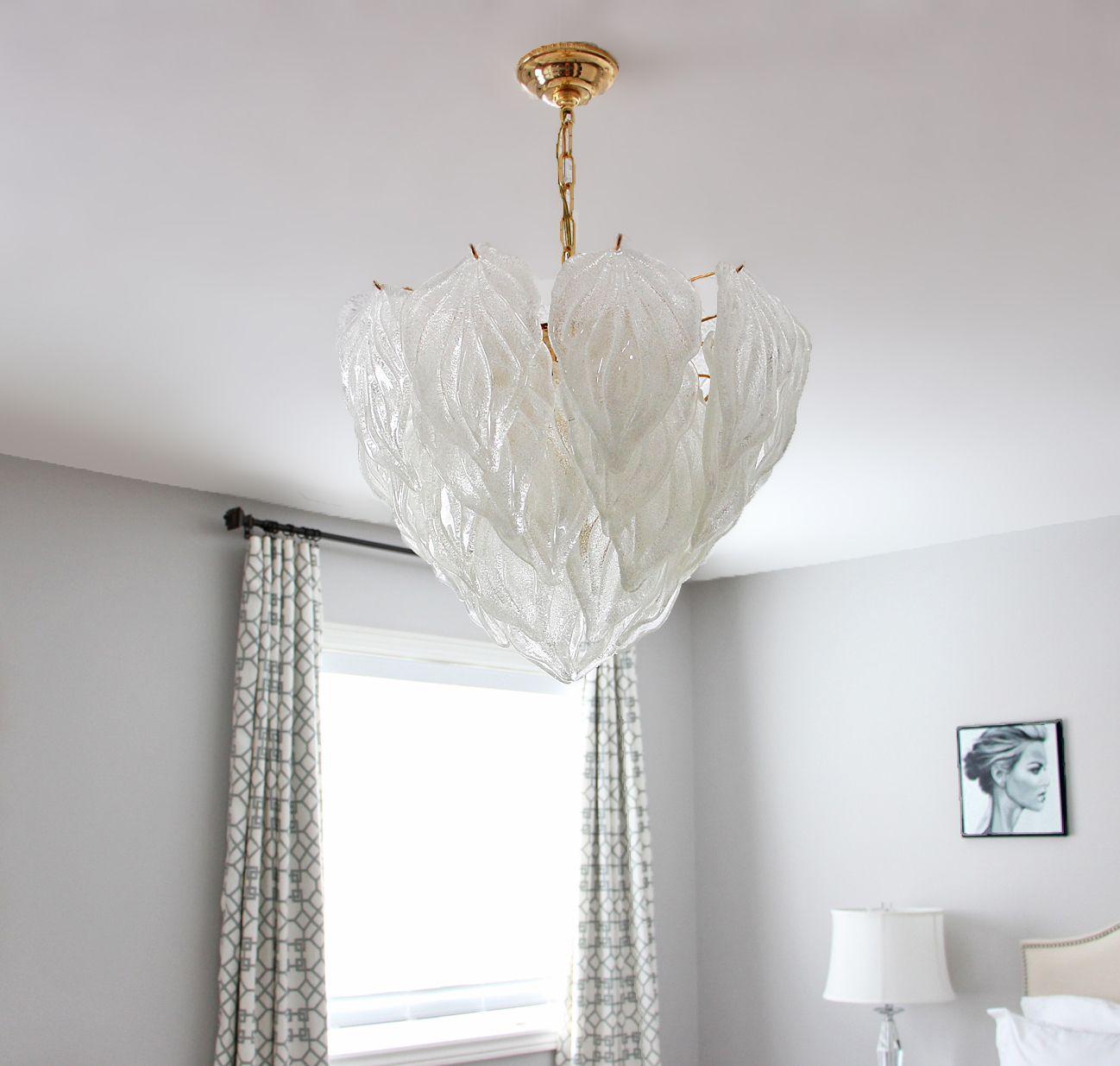 Am Dolce Vita Vintage Murano Chandelier Update Novaresi Glass Leaf