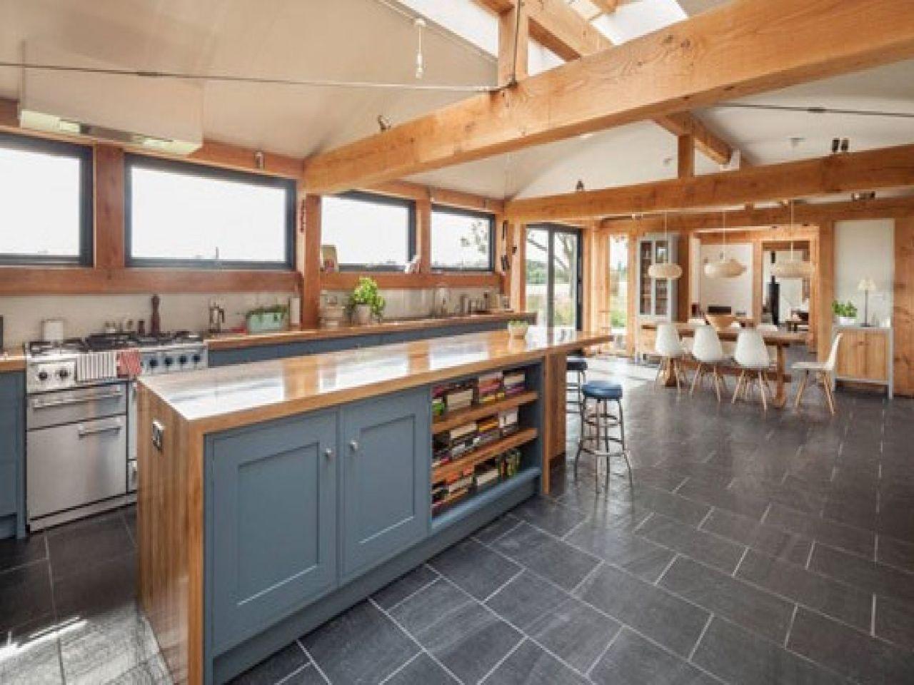 Metal Building Homes Inside | farmhouse kitchen island, Kitchens ...