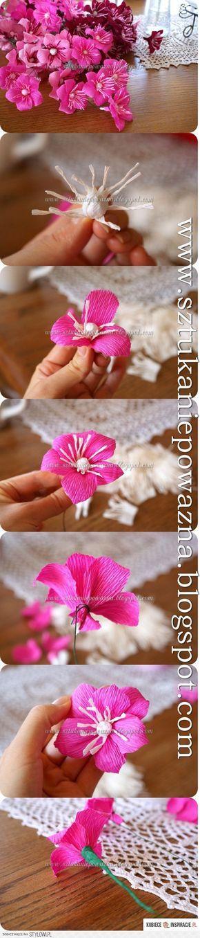 Jak zrobić kwiaty z krepiny - Kobieceinsp… na Stylowi.pl