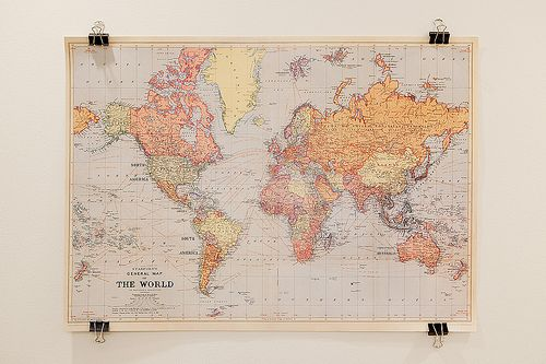 Novel World Map Travel World Silk Canvas Fabric Poster Painting Wall Decor 10