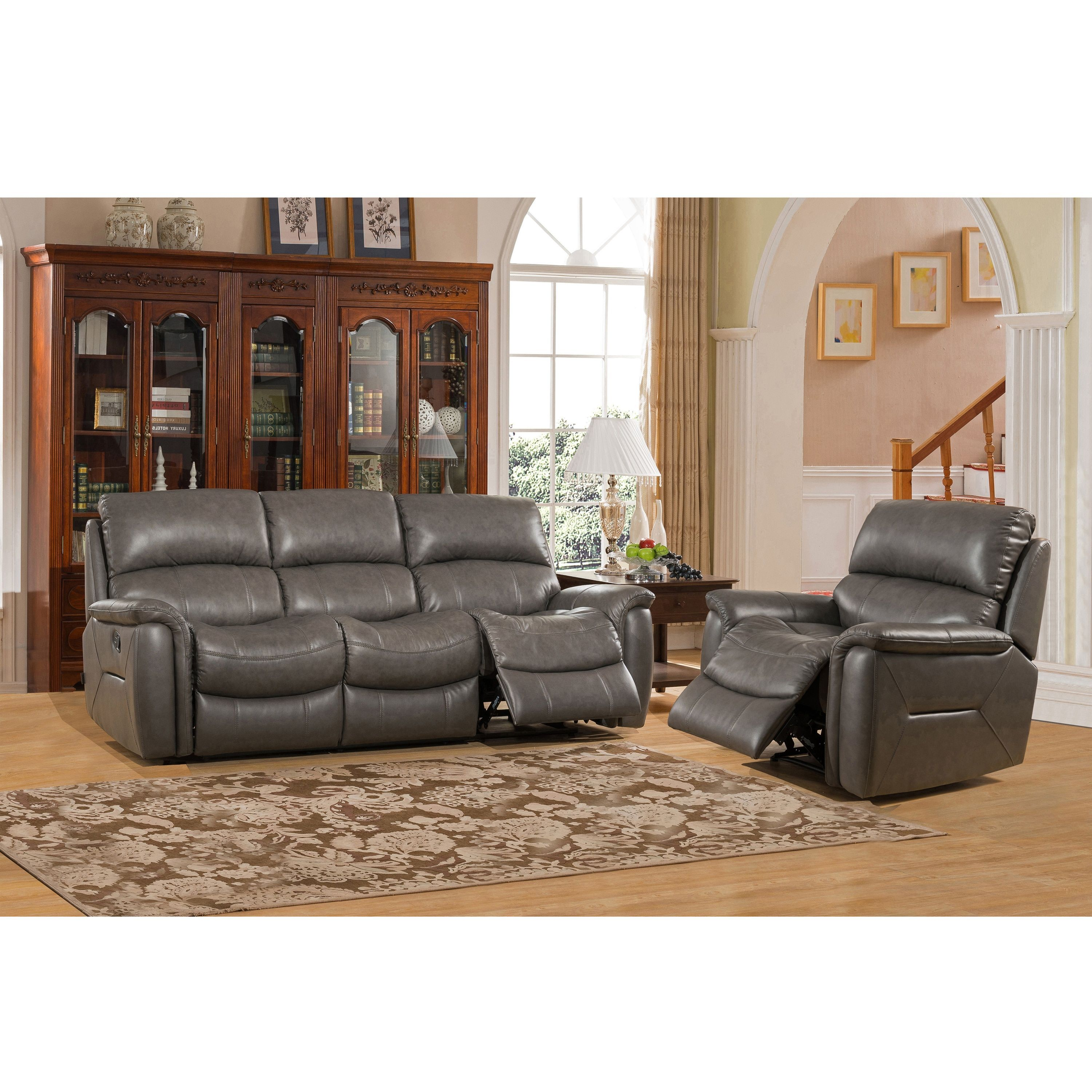and leather chair pin reclining chairs two grain sofa dark lay crestview flat brown top recliner