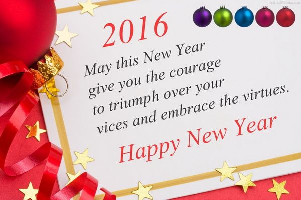 Happy New Year Quotes, Wishes, Message & SMS 2016 | Pinterest | Messages