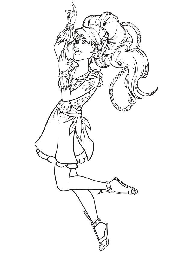 Coloring page Lego Elves: aira | Lego Elves | Pinterest