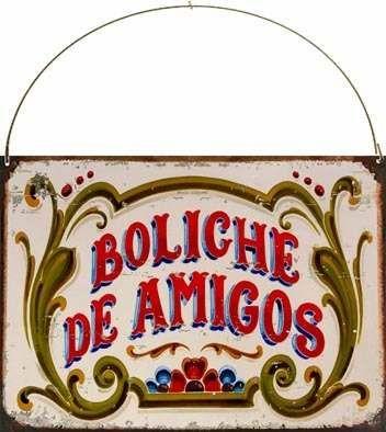 Cartel Chapa Vintage Retro Fileteado Boliche De Amigos L363 | Retro ...