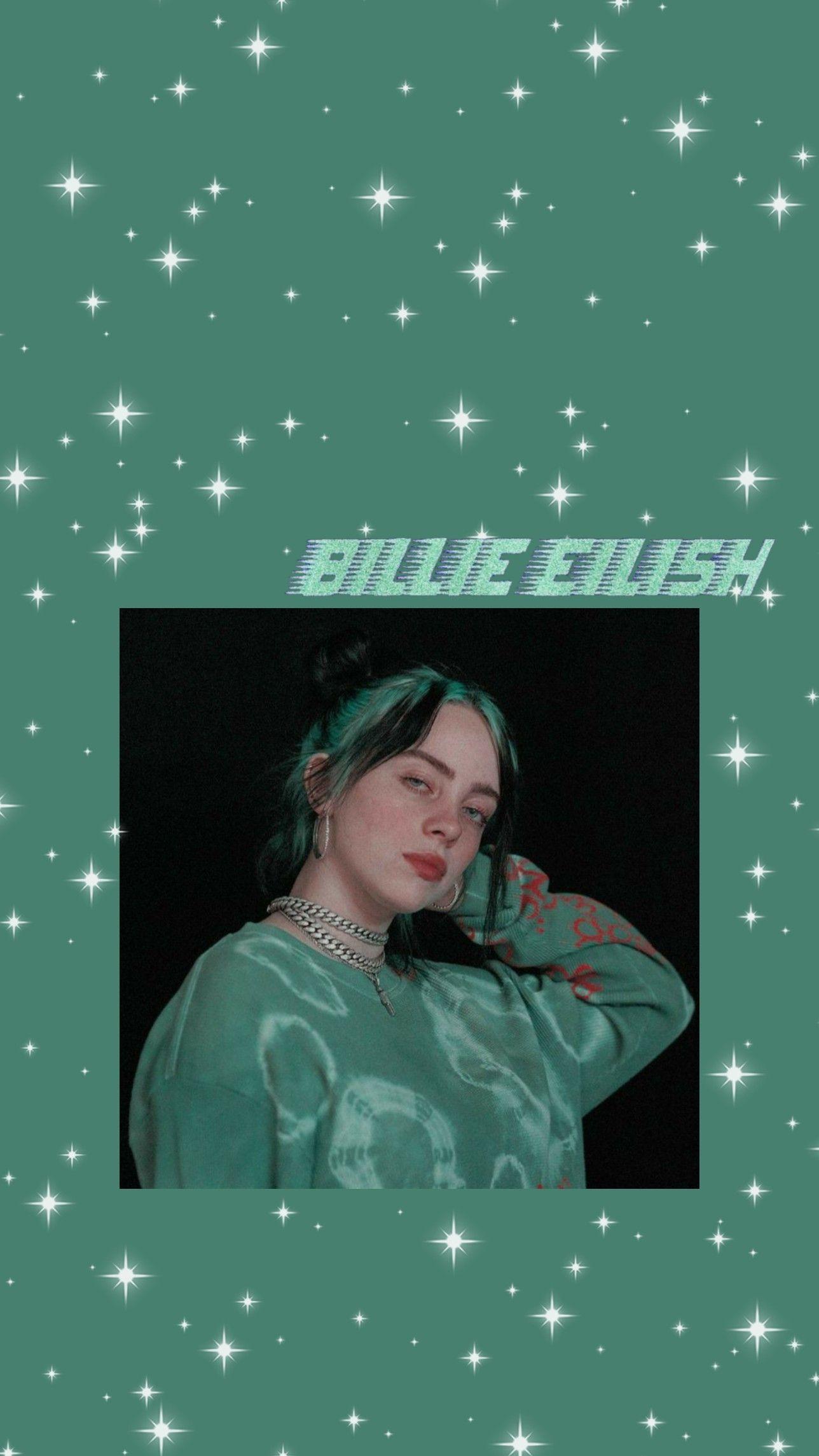 Billie Eilish Green Aesthetic Wallpaper In 2020 Green Aesthetic Billie Eilish Billie