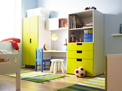 kinderzimmer ikea stuva regal schrank schreibtisch zuk nftige projekte pinterest kids. Black Bedroom Furniture Sets. Home Design Ideas