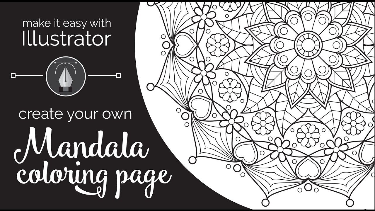 Make Your Own Mandala Coloring Pages Download Mandala Coloring Pages Mandala Coloring Coloring Pages