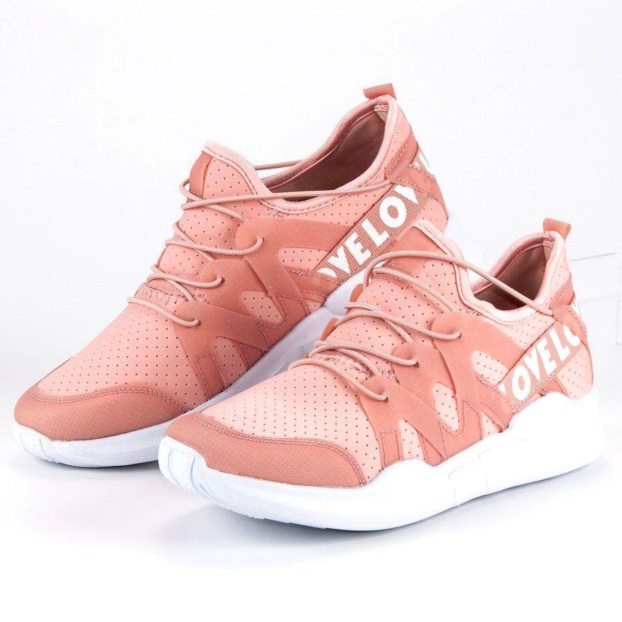 Modne Buty Sportowe Biale Rozowe Shoes Hummel Sneaker Sneakers