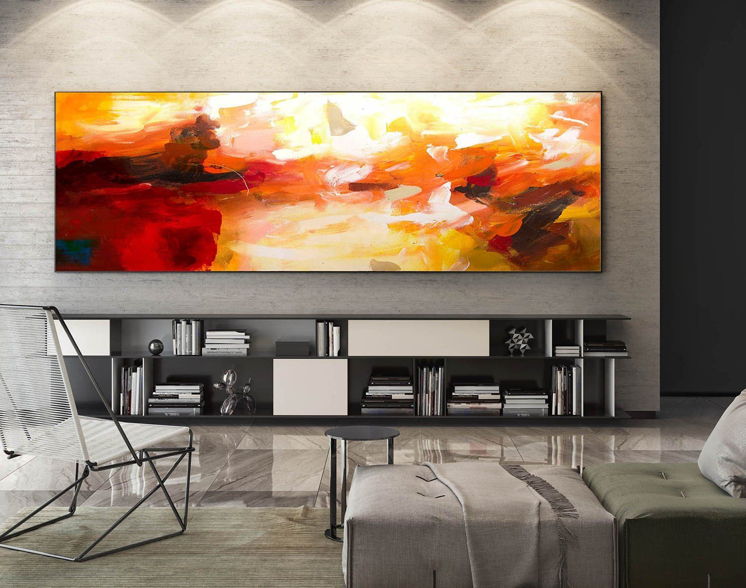 Large Panoramic Art Xa0217 Large Abstract Wall Art Extra Large