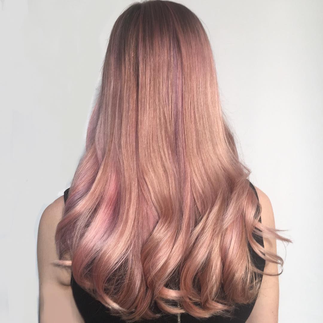 Rose Gold Hair By Redken Artist Sean Godard Using City