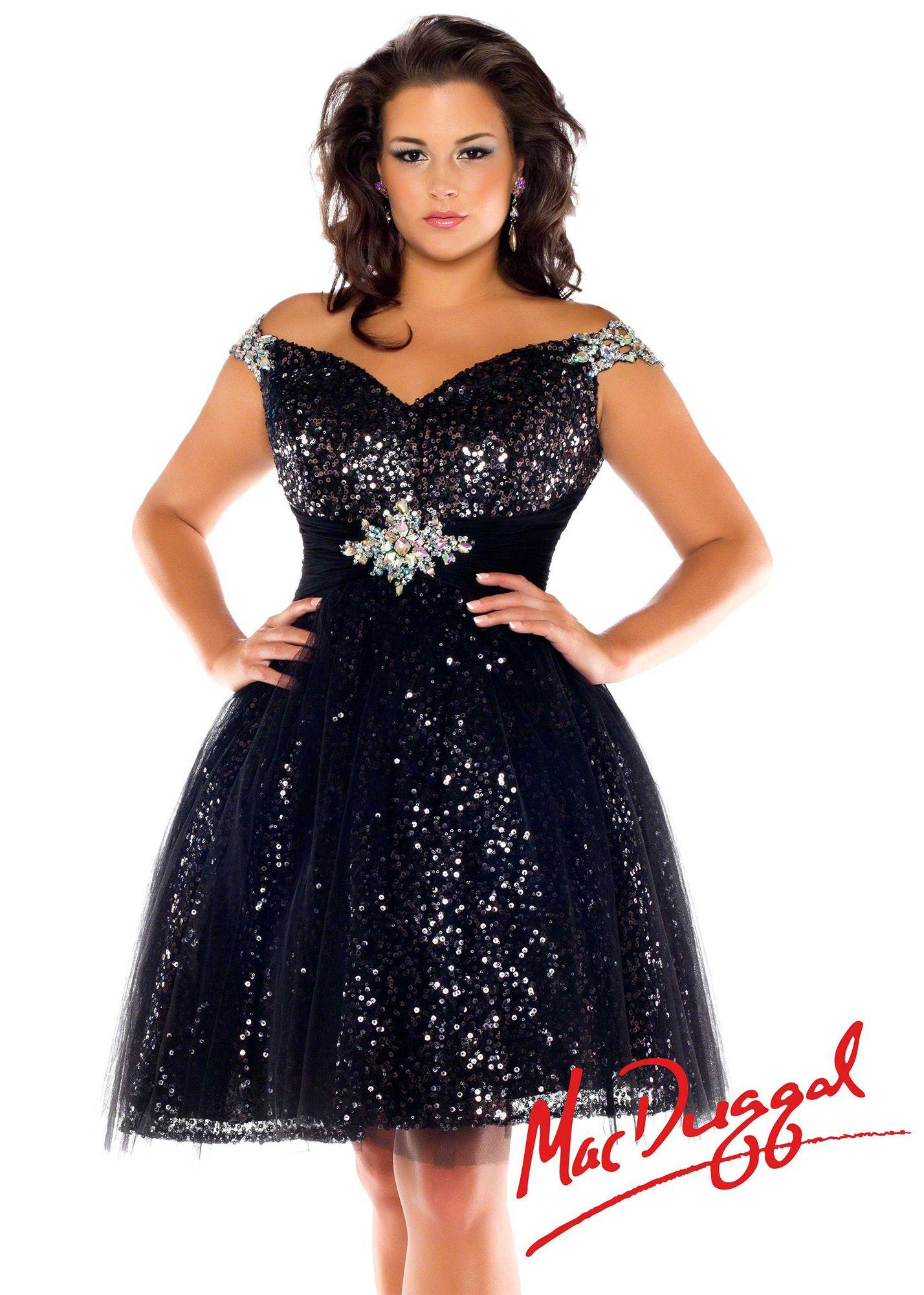 Fabulouss by mac duggal 64759f black party dress plus
