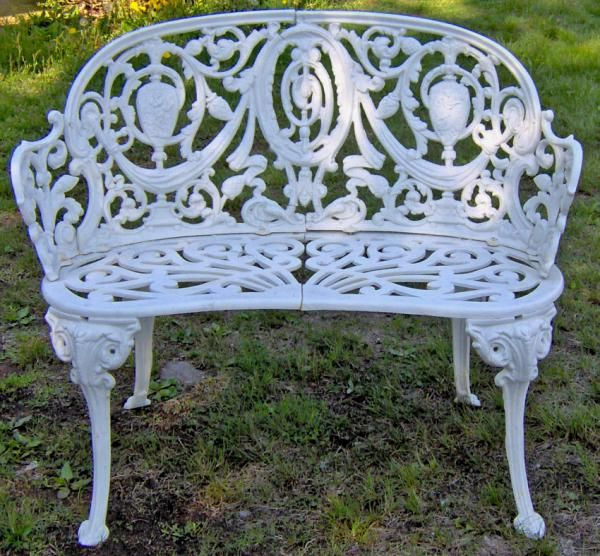 Old Rusty Bench Redo Wrought Iron Bench Cast Iron Garden Bench