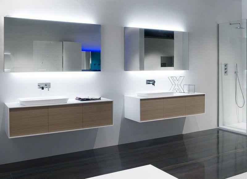 Miroir salle de bain lumineux et éclairage indirect en 50 idées ...